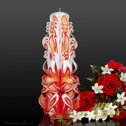 Carved candle 007