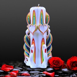 Carved candle 024