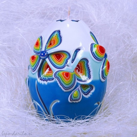 Carved candle 028